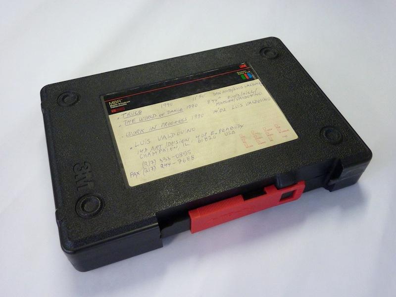 Een ander type doos die door 3M gebruikt werd voor de U-matic tapes. Foto: PACKED vzw