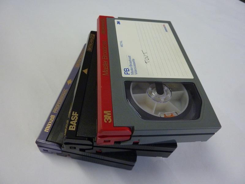 Betacam SP tapes van verschillende merken. Foto: PACKED vzw
