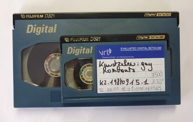 Digitale Betacam tapes in klein en groot formaat. Foto: PACKED vzw