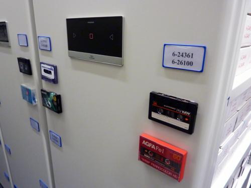 Storage shelves for audio cassettes at the Austrian Mediathek. Photo:PACKED vzw.