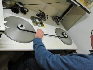 Afbeelding 7. Controle van scheurtjes en perforaties.