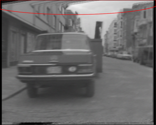 Video still from the first digitisation attempt by AV Works of Danny Matthys' work 'Zeedijk Knokke-Heist' (1973-1974).