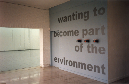 Wanting to Become Part of the Environment, Deurle (July 9 - September 17, 2000). Picture: Els Opsomer.
