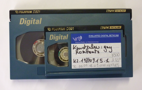Digitale Betacam tapes in klein en groot formaat. Foto: PACKED vzw