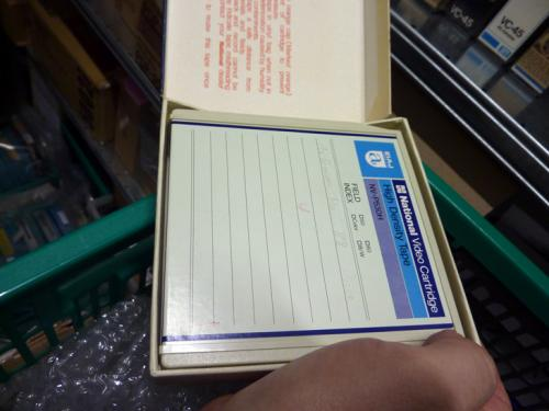 "A ½"" EIAJ tape format in a cartridge. Photo: PACKED vzw."