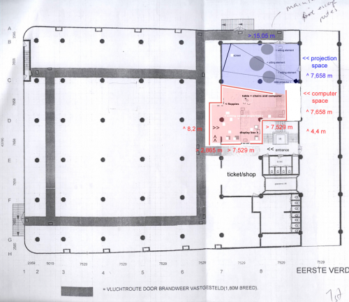 A floor plan of the exhibition in Rotterdam.
