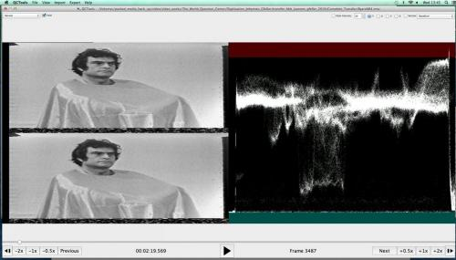 Screenshot of QCTools' playback view modes.