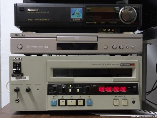 Sony Betacam SP player and Panasonic VHS player. Picture: WRO Art Center.