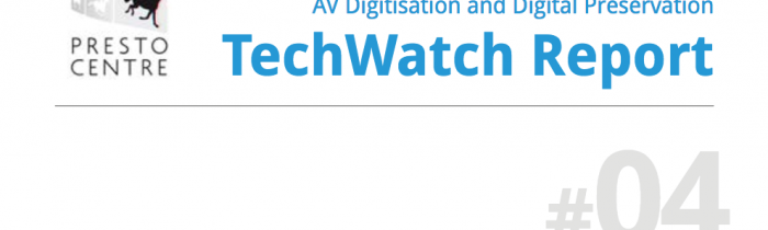 PrestoCentre TechWatch Report Cover.